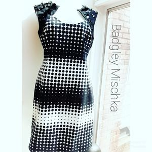 Belle Badgley Mischka Dot Embellished Dress